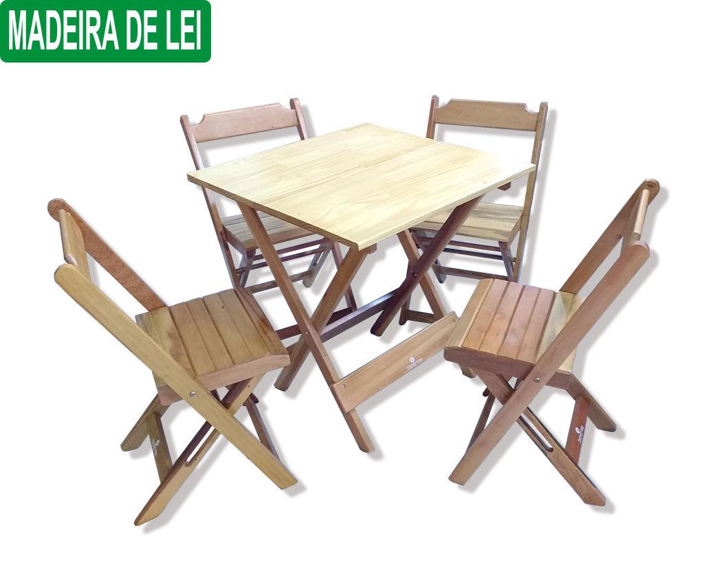 Conjunto Dobrável 70x70 C/4 Cadeiras Dobráveis Cor Natural R$ 339  #019039 1024x828